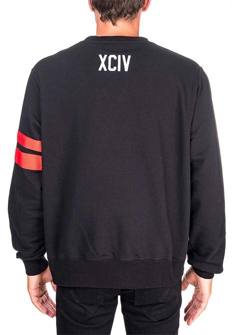 BLACK COTTON SWEATSHIRT WITH LOGO GCDS | Sweatshirts | CC94M021003NERO