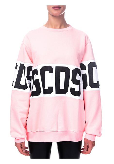 PINK COTTON SWEATSHIRT WITH LOGO GCDS | Sweatshirts | CC94M021012ROSA