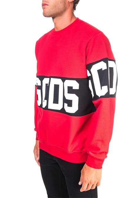 RED COTTON SWEATSHIRT WITH LOGO GCDS | Sweatshirts | CC94M021012ROSSO