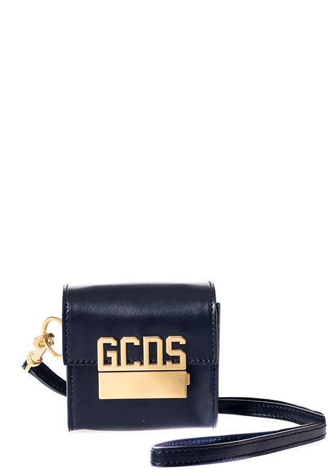 MINI CUBE BLACK BAG WITH LOGO APPLICATION GCDS | Bags | FW21M010049NERO