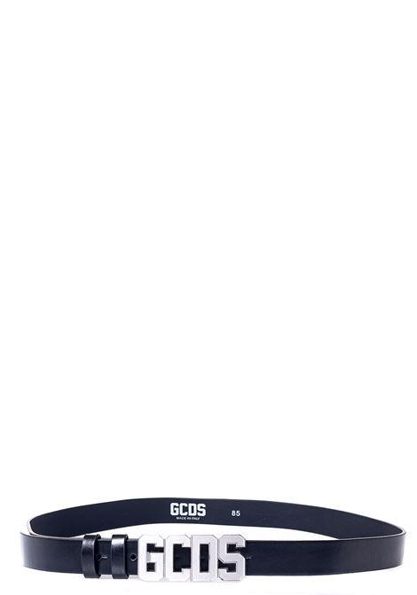 BLACK BELT WITH LOGO APPLICATION GCDS | Belts | FW21M010059NERO/ARGENTO