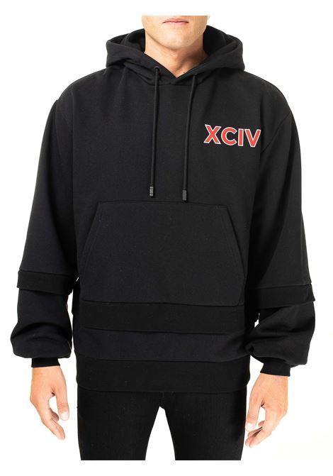 BLACK COLLEGE DUALHOODIE SWEATSHIRT GCDS | Sweatshirts | FW21M020097NERO
