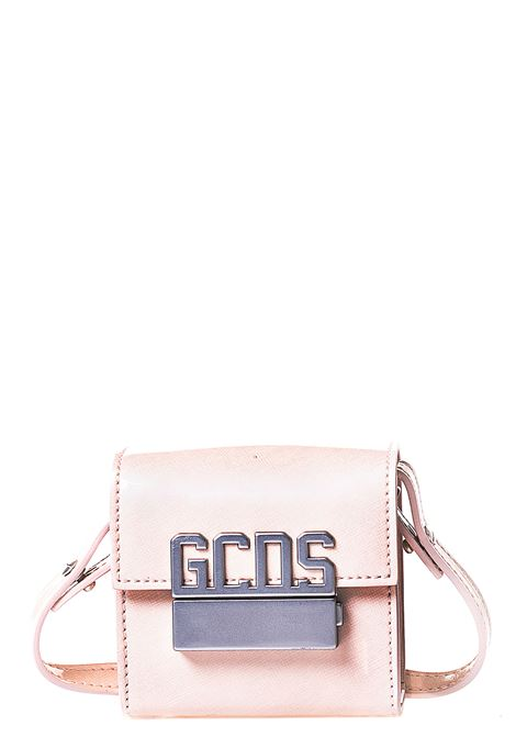 PINK MINI CUBE BAG WITH FRONT LOGO APPLICATION GCDS | Bags | FW21W010206ROSA
