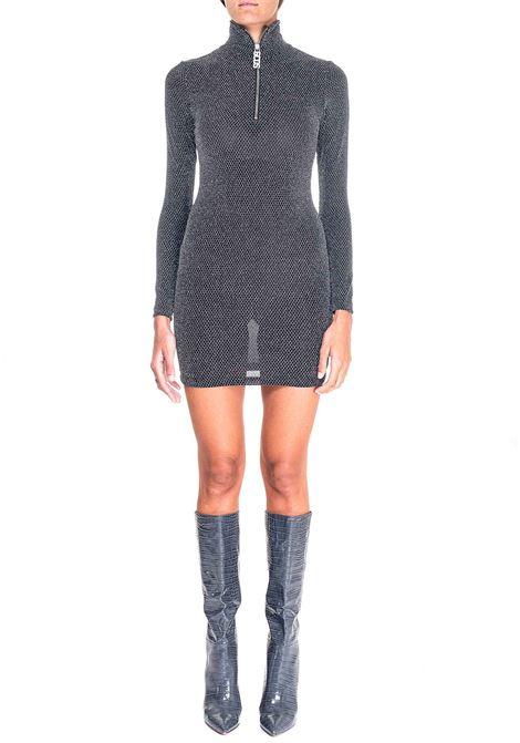 BLACK LUREX DRESS GCDS | Dress | FW21W020082NERO