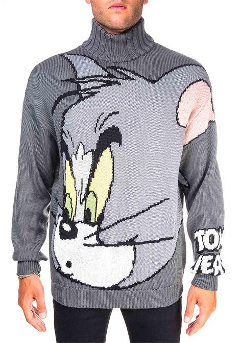 TOM INTARSIA GRAY WOOL SWEATER GCDS | Sweaters | TJ21M020002GRIGIO