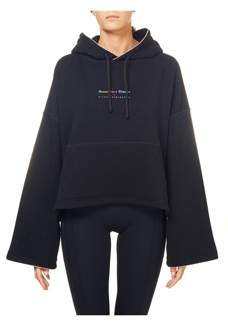 BLACK SWEATSHIRT IN COTTON, NO FACE MODEL GIADA BENINCASA | Sweatshirts | NF1011002