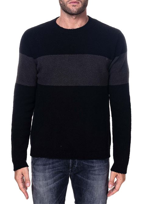 TWO-TONE COTTON BLEND SWEATER GRIFONI | Sweaters | GH110044/72003