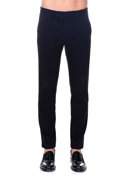 TROUSERS BLACK IN COTTON GRIFONI | Pants | GH140010R/21003