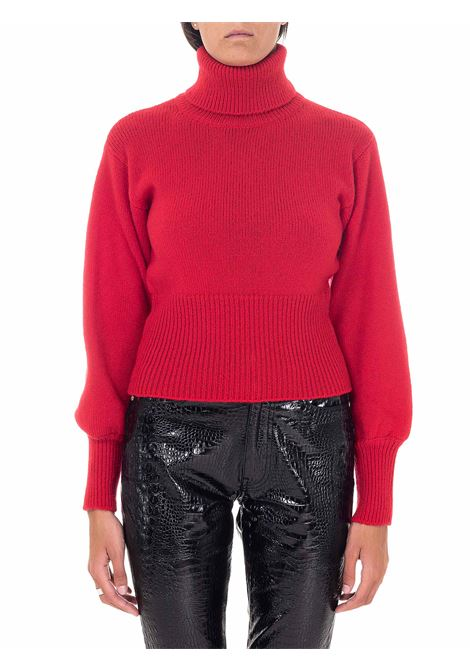RED WOOL HIGH NECK SWEATER GRIFONI | Sweaters | GH210030/67024