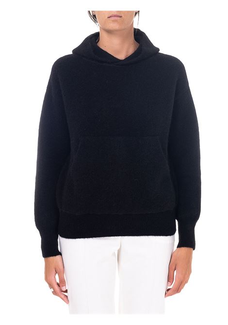 BLACK SWEATER IN WOOL AND ALPACA GRIFONI | Sweaters | GH210051/75003