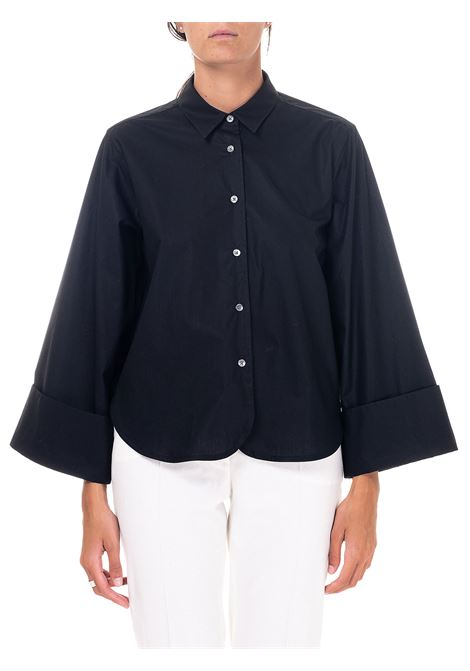 BLACK COTTON SHIRT GRIFONI | Shirts | GH220011/1003