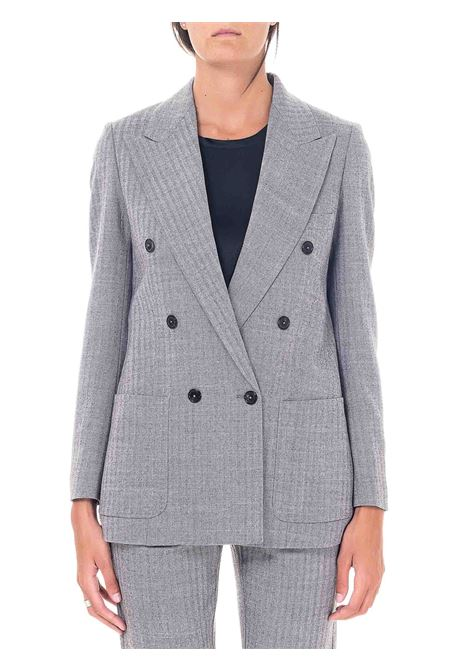 DOUBLE-BREASTED GRAY WOOL JACKET GRIFONI | Jackets | GH234006/15257