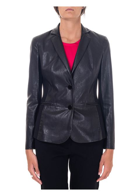 BLACK LEATHER JACKET HANITA | Jackets | HJ8372867NERO
