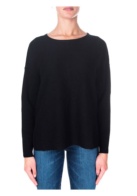 BLACK SWEATER IN CASHMERE HEMISPHERE | Sweaters | 2021217SR-12999