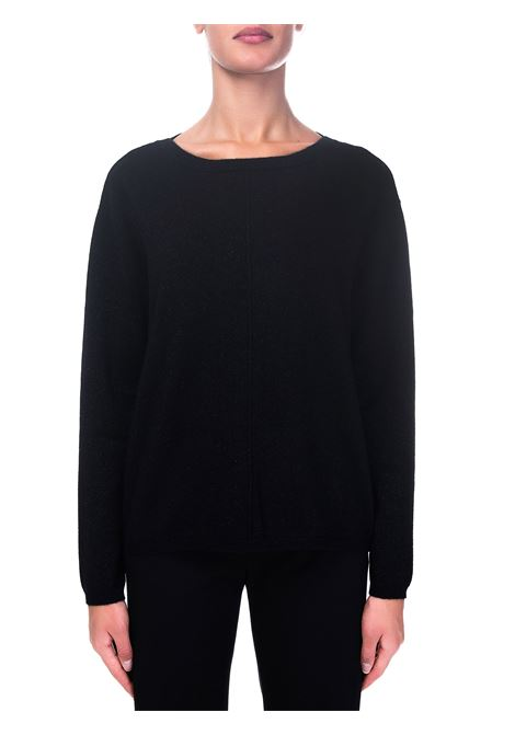 BLACK CASHMERE SWEATER WITH LUREX DETAILS HEMISPHERE | Sweaters | 2021326LX-4999