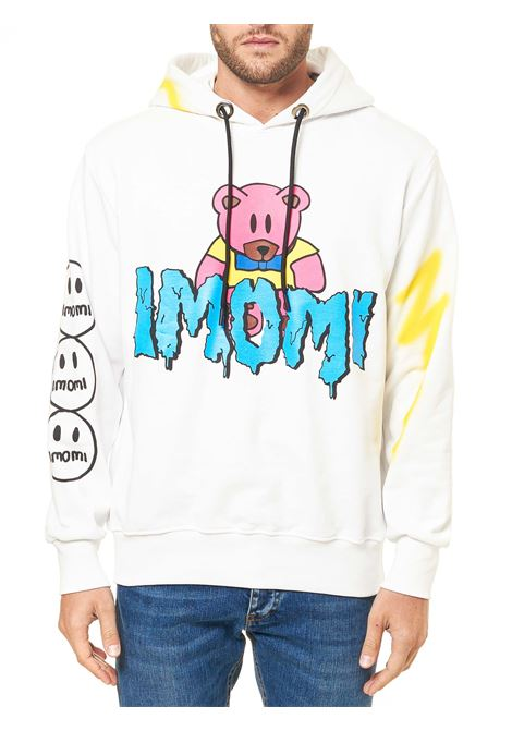 WHITE COTTON SWEATSHIRT WITH LOGO PRINT Imomi | Sweatshirts | FW20IM0801