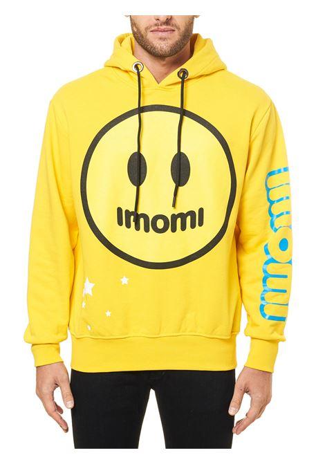 YELLOW COTTON SWEATSHIRT WITH LOGO PRINT Imomi | Sweatshirts | FW20IM0903