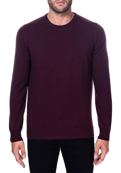 BORDEAUX SWEATER IN MIXED WOOL, SILK AND CASHMERE KANGRA | Sweaters | 100101257