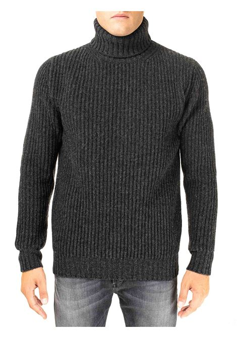 HIGH NECK GRAY SWEATER IN MERINO WOOL KANGRA | Sweaters | 12010535