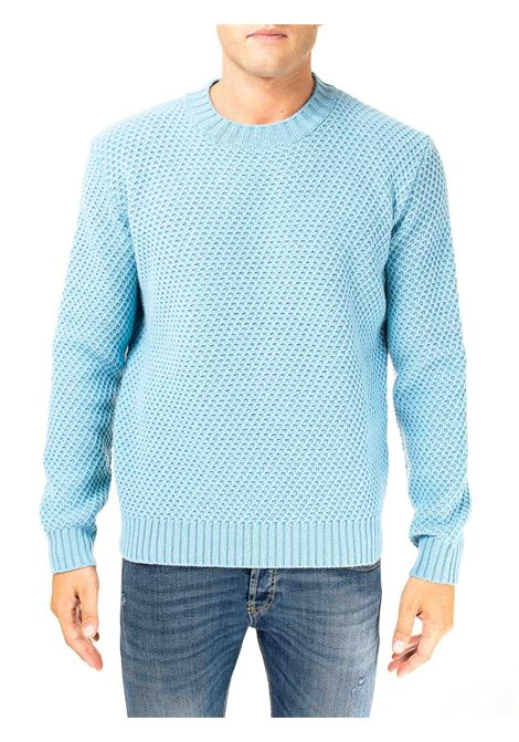 LIGHT BLUE SWEATER IN MERINO WOOL KANGRA | Sweaters | 121801504