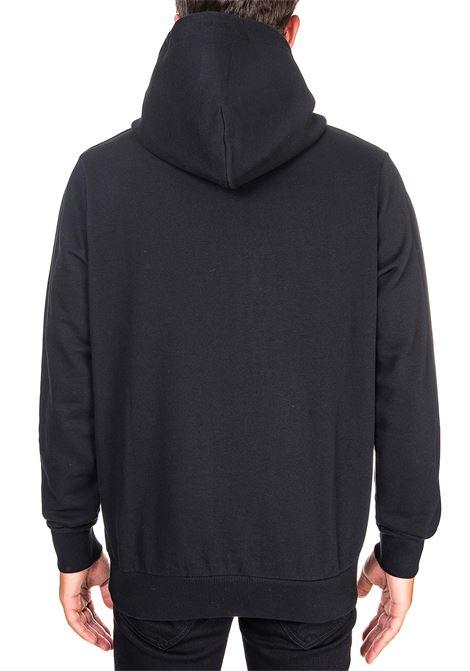 BLACK COTTON SWEATSHIRT WITH RU RAL CROSS HOODIE PRINT MARCELO BURLON | Sweatshirts | CMBB007E20FLE0121001