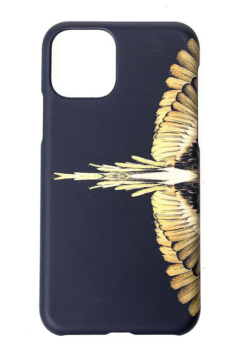 BLACK COVER IPHONE 11 PRO GOLD WINGS MODEL MARCELO BURLON | Case | CMPA015F20PLA0011016