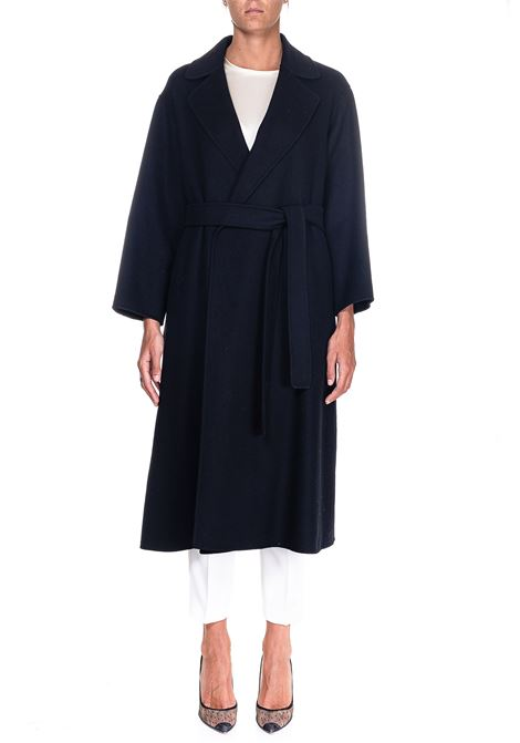 LONG BLACK WOOL COAT ELENA MODEL MAX MARA'S | Coats | 90160509600700013