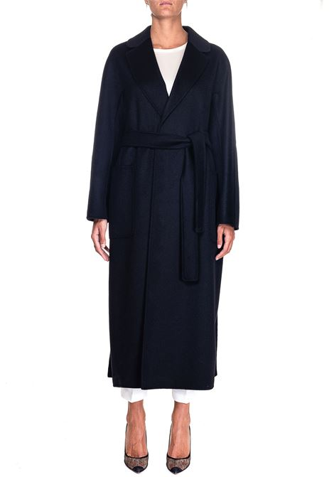 BLACK COAT IN MIXED WOOL AND CASHEMIRE AMORE MAX MARA'S | Coats | 90161103600800006