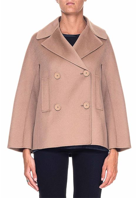 DOUBLE-BREASTED CAMEL WOOL JACKET MODEL CONNIE MAX MARA'S | Jackets | 90460109600620006