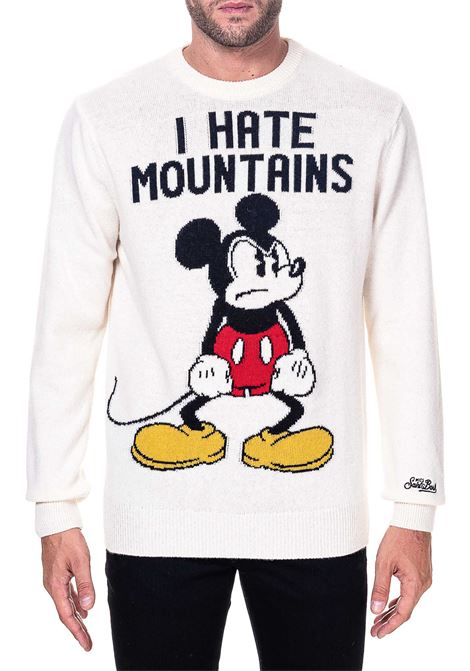 WHITE COTTON MESH SOHO ANGRY MICKEY MODEL MC2SAINTBARTH | Sweaters | ANGN10ANGRYMICKEYN10PANNA