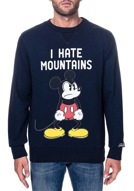 BLUE COTTON SWEATSHIRT SOHO ANGRY MICKEY MODEL MC2SAINTBARTH | Sweatshirts | ANGN61ANGRYMICKEYN61BLU