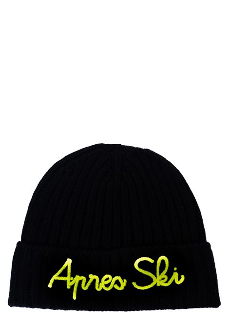 BLACK HAT IN MIXED WOOL AND CASHMERE MODEL APRES SKI 0094 MC2SAINTBARTH | Hair | EMAS09EMBAPRESSKI0094NERO