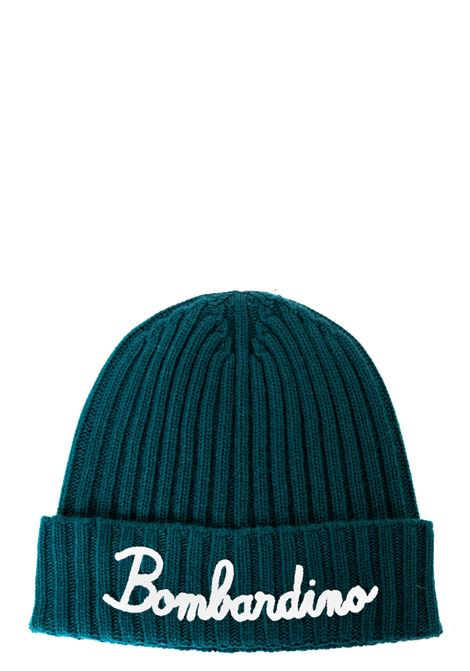 GREEN HAT IN MIXED WOOL AND CASHMERE BOMBARDINO 51 MODEL MC2SAINTBARTH | Hats | EMB0514EMBBOMBARDINO51VERDE