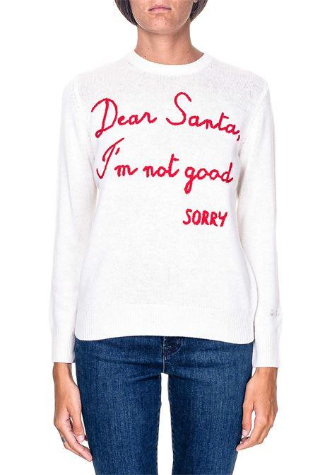 WHITE SWEATER IN MIXED WOOL AND CASHMERE MODEL QUEEN DEAR SANTA MC2SAINTBARTH | Sweaters | EMDS10EMBDEARSANTA10BIANCO