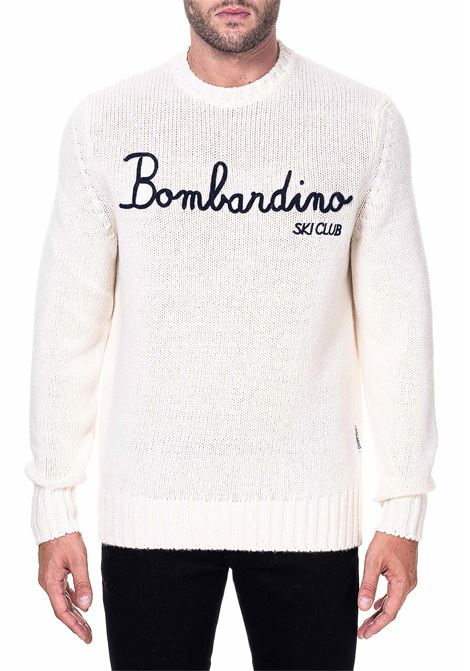 WHITE SWEATER IN MIXED WOOL AND CASHMERE BOMBARDINO SKI CLUB MODEL MC2SAINTBARTH | Sweaters | EMSK10SKYCLUB10PANNA