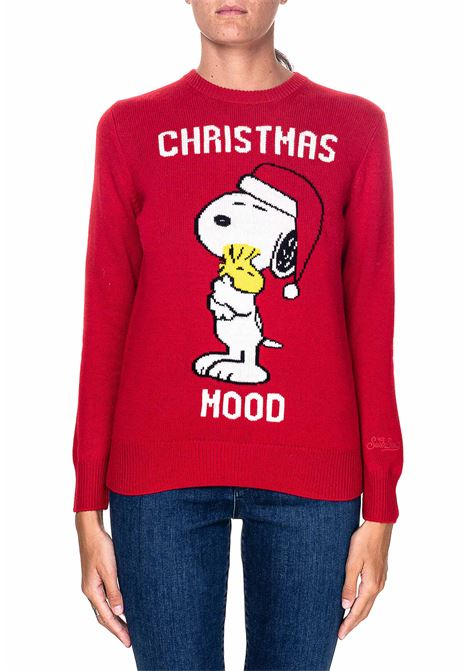 RED SWEATER IN MIXED WOOL AND CASHMERE MODEL QUEEN XMAS SNOOPY MC2SAINTBARTH | Sweaters | XMSN41XMASSNOOPY41ROSSO