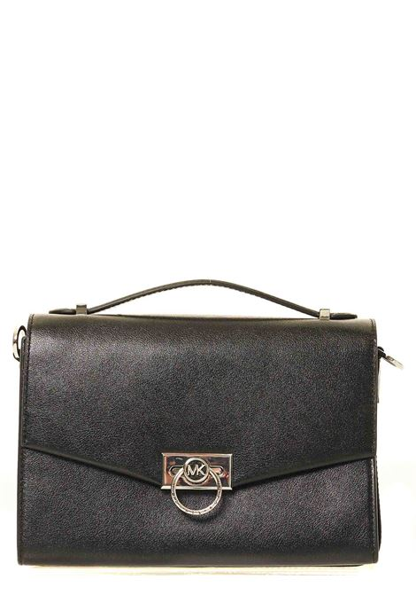 BLACK LEATHER BAG HENDRIX MODEL MICHAEL DI MICHAEL KORS | Bags | 30F0S1HM2L001HENDRIXNERO