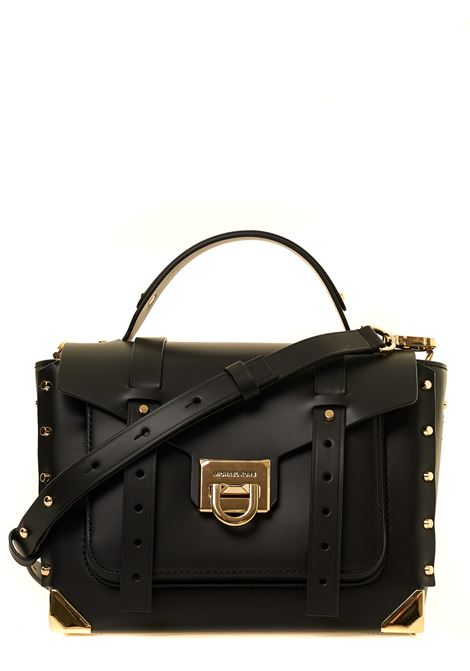 BLACK MANHATTAN LEATHER BAG MICHAEL DI MICHAEL KORS | Bags | 30T9GNCS6L001NERO