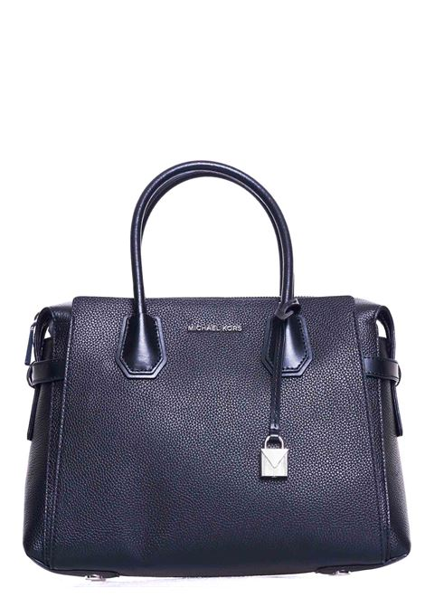 BLACK MERCER HAND BAG IN HAMMERED LEATHER MICHAEL DI MICHAEL KORS | Bags | 30T9SM9S2L001MERCERNERO