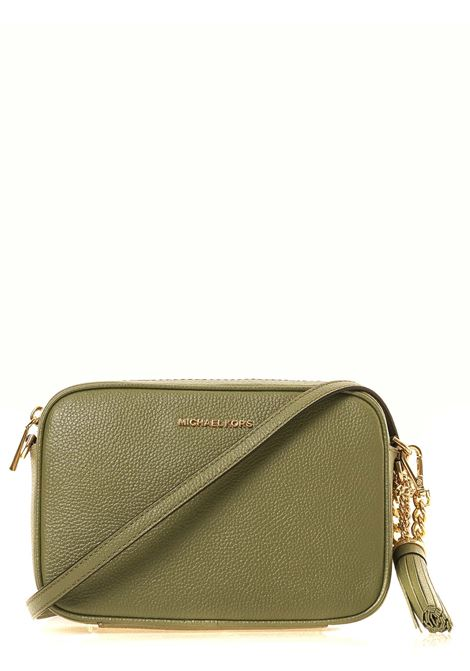 GREEN LEATHER BAG JET SET MODEL MICHAEL DI MICHAEL KORS | Bags | 32F7GGNM8L342JETSETARMY