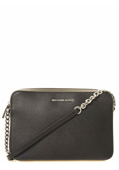 BLACK LEATHER BAG JET SET MODEL MICHAEL DI MICHAEL KORS | Bags | 32S4STVC3L001JETSETNERO