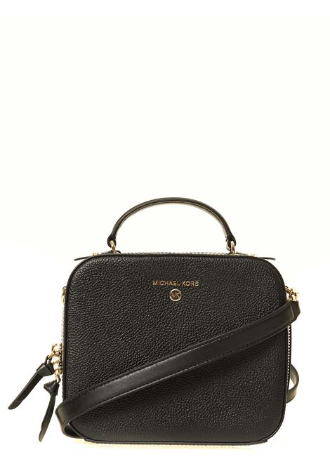 BLACK LEATHER BAG JET SET CHARM MODEL MICHAEL DI MICHAEL KORS | Bags | 32T0GT9C2L001JETSETCHARMNERO
