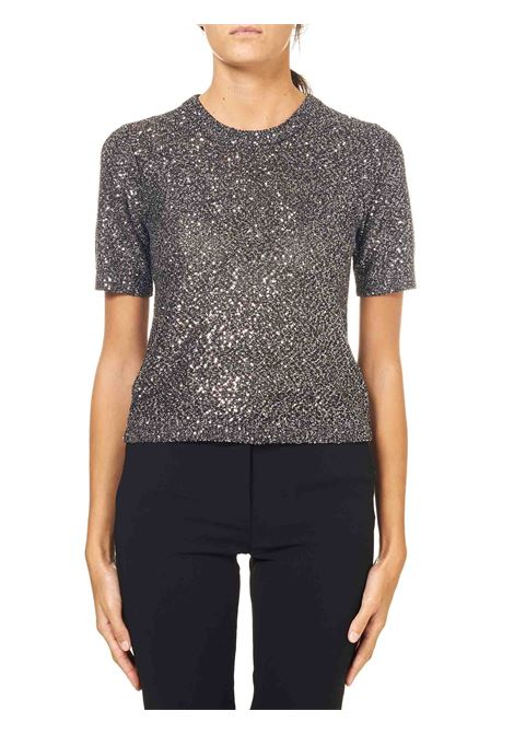 SILVER T-SHIRT IN FULL SEQUINS MICHAEL DI MICHAEL KORS | T-shirt | MF06PCLFJV040SILVER