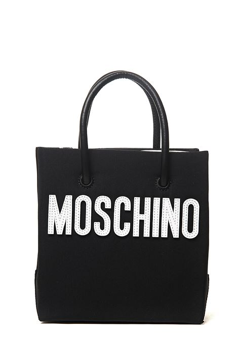 BLACK MINI BAG IN NYLON WITH MOSCHINO TEDDY BEAR PATCH MOSCHINO | Bags | 754582121555