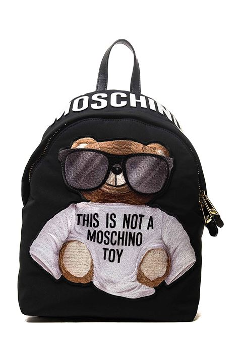 BLACK BACKPACK IN MICRO TEDDY BEAR NYLON MOSCHINO | Backpacks | 763682121555