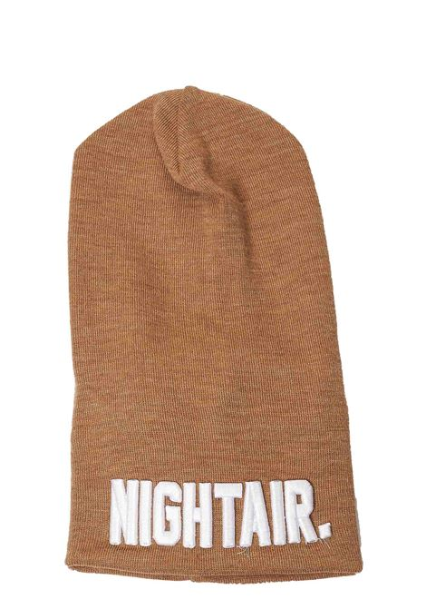 BROWN WOOL BLEND HAT WITH FRONT LOGO APPLICATION NIGHTAIR | Hats | CAP01NH BEANIE HATCAMMELLO
