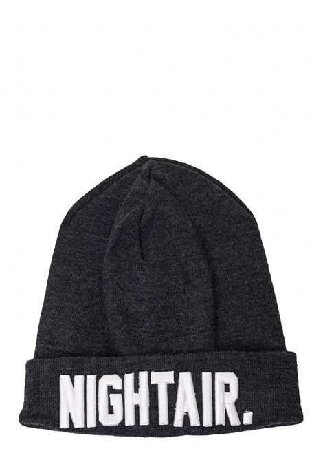 GRAY WOOL BLEND HAT WITH FRONT PRINT NIGHTAIR | Hats | CAP01NH BEANIE HATGRIGIO