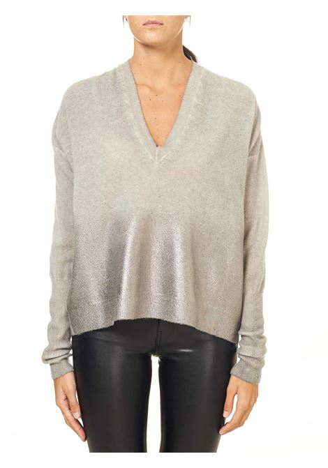 GRAY SWEATER IN WOOL AND CASHMERE BLEND Nude | Sweaters | 110100305