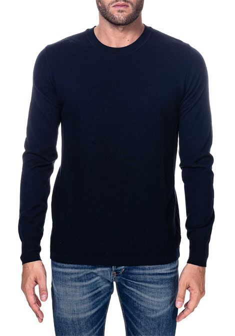 BLUE WOOL SWEATER MODEL FINENESS 16 PAOLO PECORA | Sweaters | A001F0016462