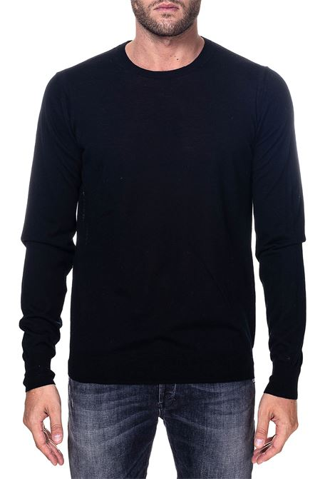 BLACK WOOL SWEATER MODEL FINENESS 16 PAOLO PECORA | Sweaters | A001F0019000